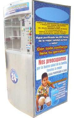 Máquina Vending de agua purificada