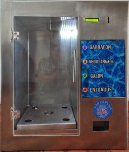 despachador automatico de agua da cambio